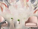 Floral Wall Murals Canada 3d Custom Wallpaper Vintage Hand Painted Flowers nordic Minimalist Living Room Tv Background Mural Environmental Non Woven Mural Canada 2019 From