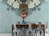 Floral Wall Murals Canada Vintage American Style Flower Deer 3d Murals Wallpaper for sofa Backgroud Custom 3d Wall Murals Removable Canada 2019 From Fumei66 Cad $40 22
