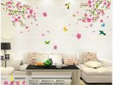 Floral Wall Murals Uk Wallpicture Art Pink Plum Blossom Flower & Bird Decal Mural