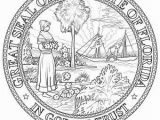 Florida Gators Coloring Pages Florida State Seal Coloring Page