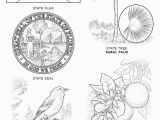 Florida State Bird Coloring Page Florida State Symbols Coloring Page From Florida Category Select