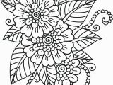 Flower Coloring Pages for Adults to Print Flower Coloring Sheet Flower Coloring Page Likeable Adult Pages