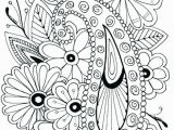 Flower Coloring Pages for Adults to Print Free Flower Colouring Pages Adults Flowers Coloring Pages Free