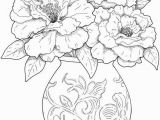 Flower Coloring Pages for Adults to Print Get This Detailed Flower Coloring Pages for Adults Printable 85yf1