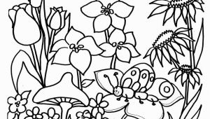 Flower Garden Coloring Pages Printable Flower Garden Coloring Pages for Kids