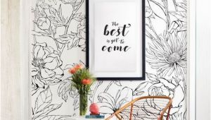 Flower Murals Ideas Botanical Garden Hand Drawn Flowers Mural Wall Art Wallpaper Peel