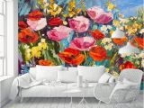Flower Wall Mural Painting Blazek Removable Oil Painting Field Poppies Flowers 3 92 L