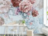 Flower Wall Mural Painting Tropical Plants and Banana Leaves Wallpaper Simple Flowers
