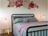 Flower Wall Murals Stickers Flower Decals Pink and Red Flower Decals Wall