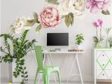 Flower Wall Murals Stickers Peony Wall Decal Set Of 6 Flower Wall Decals Peel