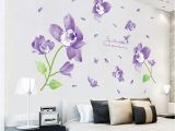 Flower Wall Murals Stickers Us $6 99 Off [fundecor] Fantasy Violet Flower Wall Stickers Home Decor Living Room Bedroom Kitchen Bathroom Wall Decal Poster Mural Wall Art In
