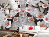 Flower Wall Murals Uk 3d Mural Wallpaper Cherry Blossom Embossed Flower Wall Background