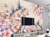 Flower Wall Murals Uk 3d Papel De Parede Custom Photo Hd Flowers Relief 3d Mural for