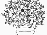 Flowers Coloring Pages Printable Realistic Bouquet Of Flowers In Vase Coloring Page for Kids Flower