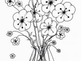 Flowers Printable Coloring Pages Flower Coloring Template 11 S Printable Coloring Page