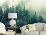Foggy forest Wall Mural Custom 3d Papel Murals Nature Fog Trees forest Wallpaper 3d