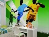 Football Murals for Bedrooms Children S Room Wall Paper Stickers Cartoon Football Wallpaper