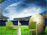 Football Murals for Bedrooms Custom 3d soccer Wallpaper Sports Football themed Stadium