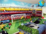 Football Murals for Bedrooms Football themed Boys Bedroom Mural by