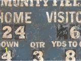 Football Scoreboard Wall Mural Vintage Football Scoreboard by Oopsy Daisy