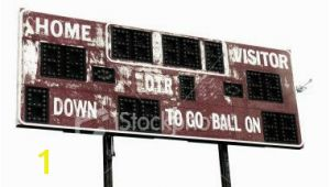 Football Scoreboard Wall Mural Vintage Football Scoreboard In 2019 Wall Decor