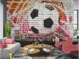Football Splash Wall Mural Non Woven top Wallpaper Murals Wall Mural