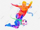 Football Splash Wall Mural Silhueta De Jogadores De Futebol Criativo Multicolor O