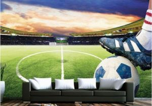 Football Stadium Murals 3d soccer Field Custom Wallpaper Sports Stadium Wall Mural In