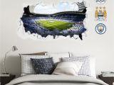 Football Stadium Wall Murals Champions Etihad Smashed Wall Stadium Corner Shot Mural Manchester