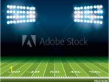 Football Stadium Wall Murals Door Murals American Football Field with Stadium Lights