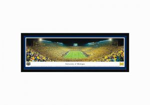 Football Stadium Wall Murals Michigan Wolverines Football Stadium End Zone Framed Wall Art
