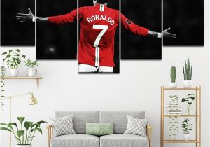 Football Wall Mural Wallpaper ᗕcanvas Painting Football soccer Start Old Trafford 5