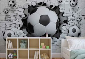 Football Wall Mural Wallpaper Wall Mural Football Through the Wall Xxl Photo Wallpaper