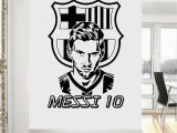 Football Wall Murals for Kids Barcelona Fc Messi Football Club Wall Art Sticker
