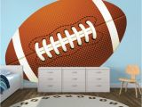 Football Wall Murals for Kids Football Wallpaper Graphic Football Wall Adhesive