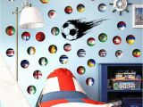 Football Wall Murals for Kids New Diy Multi National Flag Football Wall Stickers Vinyl Eco