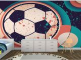 Football Wall Murals for Kids Paint Effect soccer Ball Wall Mural Murawall Murawall
