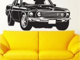 Ford Mustang Wall Mural 13 23day Delivery ford Mustang Racing Car Wall Sticker Living Room Home Decoration Creative Decal Diy Mural Wall Art