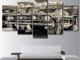 Ford Mustang Wall Mural 1965 ford Mustang 5 Panel Canvas Print Wall Art In 2019