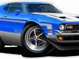 Ford Mustang Wall Mural Classic Car 1971 ford Mustang Boss 351 Wall Decal Vintage Car Decals Classic Car Decal 70s Car Decals Automobile Wall Murals