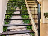 Forest Stream Wall Mural 3d forest Wood Path 1439 Stair Risers