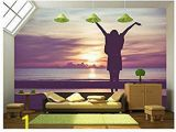 Forest Stream Wall Mural Amazon Wall26 Woman Spreading Hands with Joy and