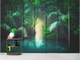 Forest Stream Wall Mural Jungle southeast asia Wall Mural Wallpaper Nature
