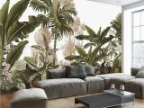 Forest Wall Decal Mural Hand Painted Tropical Rainforest forest Wallpaper Wall Mural