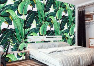 Forest Wall Mural Painting Custom Wall Mural Wallpaper European Style Retro Hand Painted Rain forest Plant Banana Leaf Pastoral Wall Painting Wallpaper 3d Free Wallpaper Hd