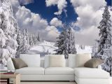 Forest Wallpaper Murals for Walls Custom Wallpaper Winter Snow Landscape forest Wall Mural Wall