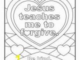 Forgiveness Coloring Pages Jesus Teaches Me to forgive Printable Coloring Page