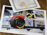 Formula One Wall Murals Ayrton Senna by Greg Tillett Limited Edition Art Print formula 1 One F1 Motorsport Poster