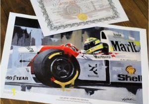 Formula One Wall Murals Ayrton Senna by Greg Tillett Limited Edition Art Print formula 1 One F1 Motorsport Poster