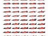 Formula One Wall Murals Ferrari Evolution Poster